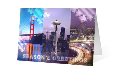 Crystal Reveal 2020 corporate holiday print greeting card thumbnail