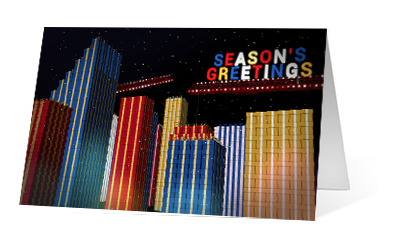 Gift City 2020 corporate holiday print greeting card thumbnail