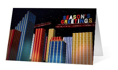 Gift City 2020 corporate holiday print greeting card thumbnail
