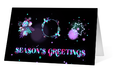 Holiday Dream version 1 2020 corporate holiday print greeting card thumbnail