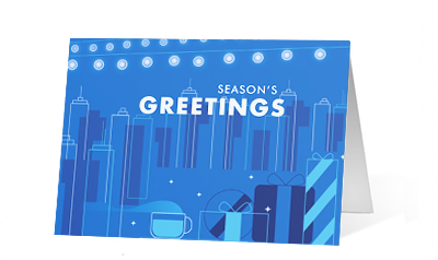 Excited Spirit 2020 corporate holiday print greeting card thumbnail