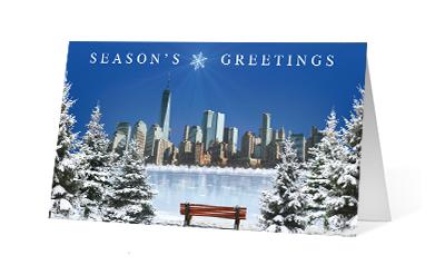 Clear Morning 2020 corporate holiday print greeting card thumbnail