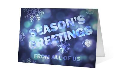 Photo Insight 2020 corporate holiday print greeting card thumbnail