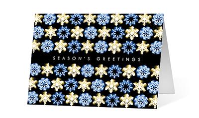 Dancing Lights 2020 corporate holiday print greeting card thumbnail