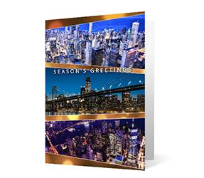 Photo Elegance 2020 corporate holiday print greeting card thumbnail