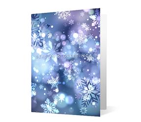 Snowflake Connections 2020 corporate holiday print greeting card thumbnail