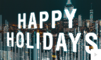 Linework - City corporate holiday ecard thumbnail