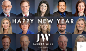 2020 Jaburg Wilk Semi-Custom corporate holiday ecard thumbnail