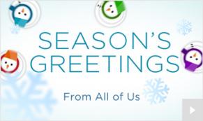 Snowman Waltz holiday ecard thumbnail