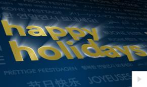 Uplifting Sentiments Blue corporate holiday ecard thumbnail