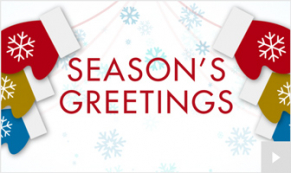 Holiday Mittens corporate holiday ecard thumbnail