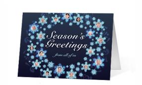 Snowflake Wreath corporate holiday print thumbnail
