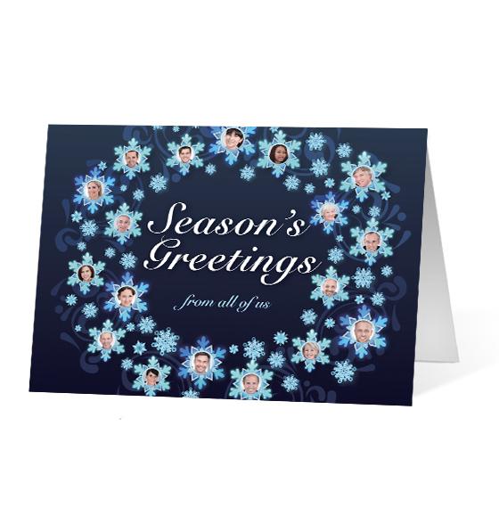 Snowflake Wreath - Print