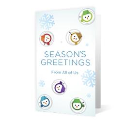 Snowman Walts corporate holiday print thumbnail