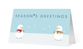 Snowball Fight corporate holiday print thumbnail